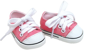 18 Inch Pink Doll Shoes for American Girl Dolls Pale Pink Doll Sneakers