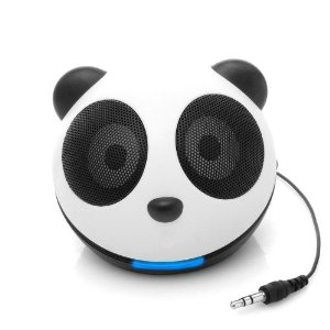 GoGroove Panda Pal Jr Portable Mini Speaker System for Smartphones