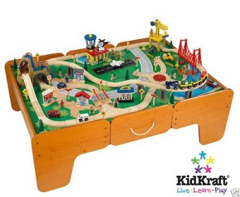 Kidkraft Train Table and Train Set with Drawers