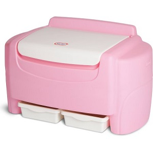 Little Tikes Pink Sort n Store Toy Chest for Girls.