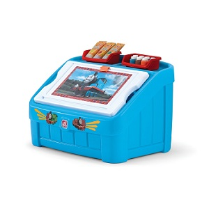 Thomas The Tank Engine Toy Box with Art Lid for Boys