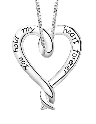 Sterling Silver You Hold My Heart Forever Pendant