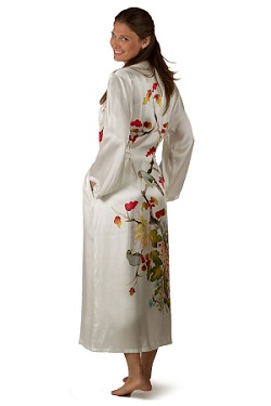 White Silk Robe Gift for Mom